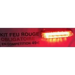 kit feu arrière 6 led rouge obligatoire en compétition sous la pluie